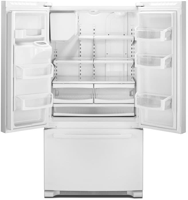 Whirlpool Gold French Door Refrigerator Reviews Part - 24: Whirlpool Gold GI6FARXXB - Black Whirlpool Gold GI6FARXXB - Interior View  (White Model Pictured)
