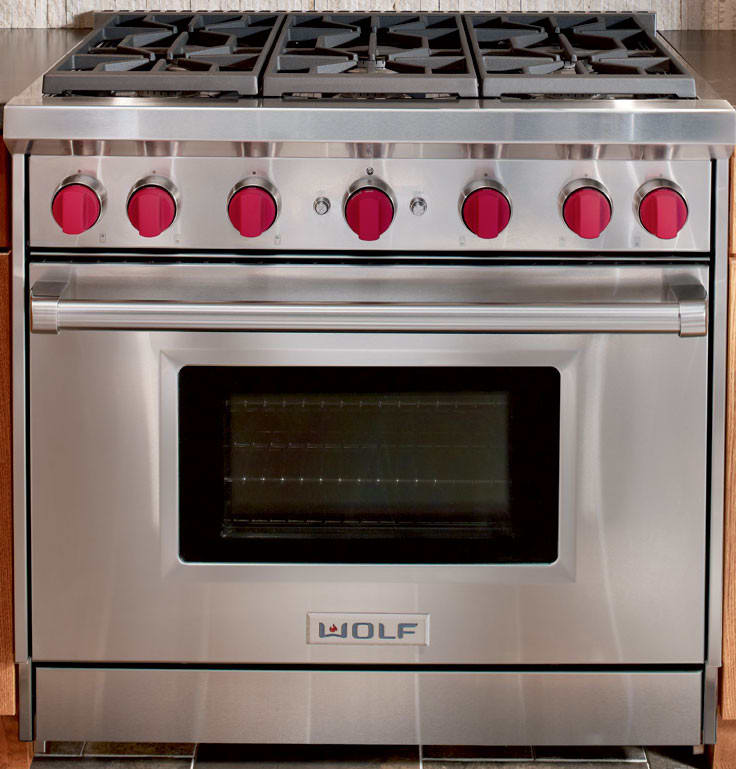 Wolf GR366 36 Inch Pro-Style Gas Range with 6 Dual-Stacked ...