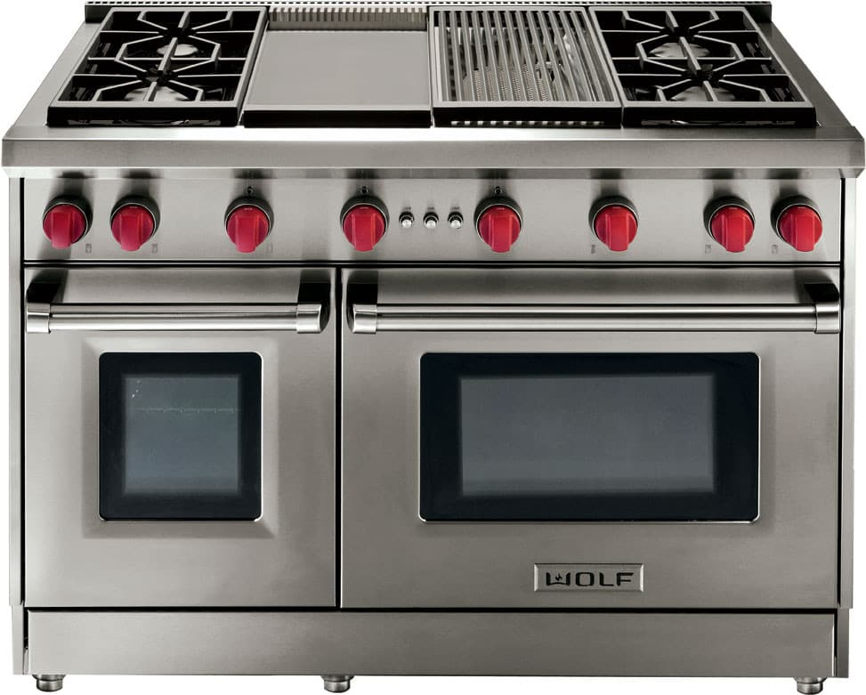 Wolf Gr486g 48 Inch Pro Style Gas Range With 4 4 Cu Ft