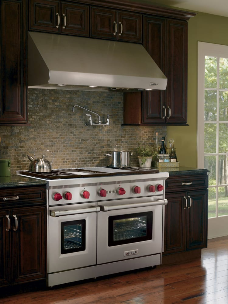 Wolf GR484CG 48 Inch Pro-Style Gas Range With 4 Dual
