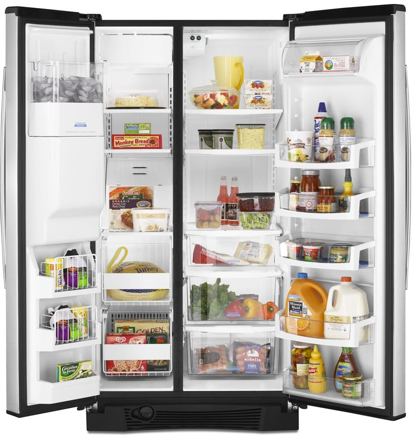 Whirlpool Gs6nvexvs 25 6 Cu Ft Side By Side Refrigerator