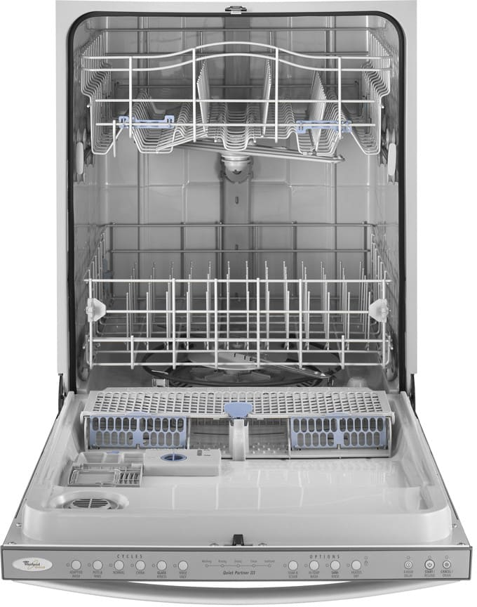 Whirlpool Gu2275xtvy Fully Integrated Dishwasher With 6 Automatic Cycles 14 Place Settings Auto Soil Sensor 4 Hour Delay Wash And Quiet Partner Iii Sound Package Monochromatic Stainless Steel