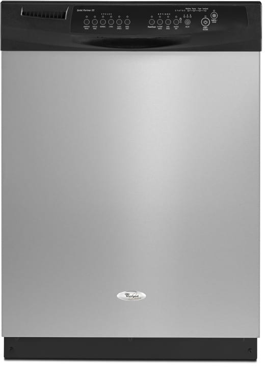 Whirlpool Gu2300xtvs Full Console Dishwasher With 6 Automatic Cycles 14 Place Settings Auto Soil Sensor 2 4 6 Hour Delay Wash And Quiet Partner Iii Sound Package Stainless Steel