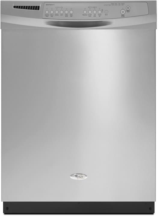 Whirlpool Gu3600xtvy Full Console Dishwasher With 6 Automatic Cycles 14 Place Settings Powerscour Option Speed Wash Cycle Auto Soil Sensor 2 4 6 Hour Delay Wash And Quiet Partner V Sound Package Monochromatic Stainless Steel