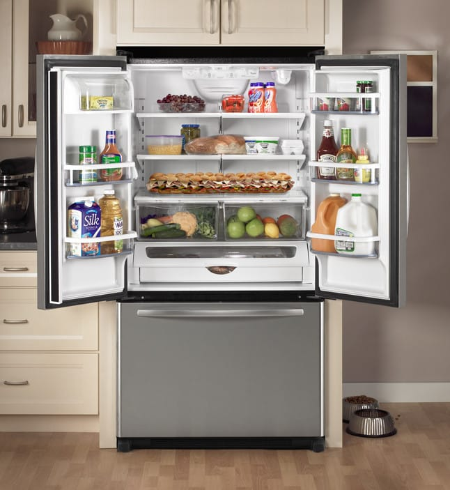 Whirlpool Gx5fhtxts 24 8 Cu Ft French Door Refrigerator