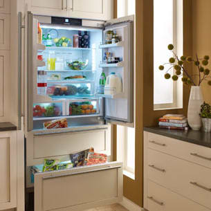 Liebherr HC2062 36 Inch Built In Panel Ready 4 Door French Door Refrigerator  With PowerCooling System, 2 Glass Shelves, Dual Freezer Drawers, LED  Lighting, ...