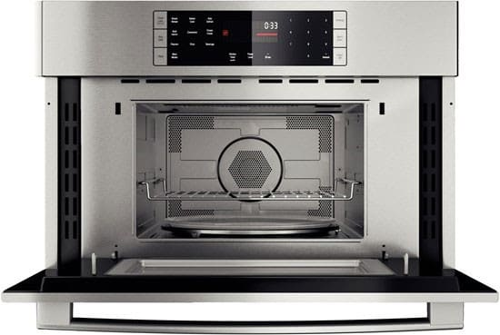 Bosch hmc80251uc 30 inch speed oven with 1 700 watt - Stainless steel microwave interior ...