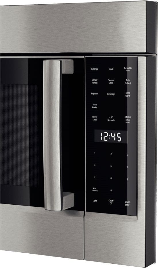 Over The Range Microwave Bosch 500 Series Hmv5052u Interior View Lcd Display Features Easy To Read White Led Lettering