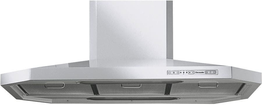 Thermador Hni48ys Island Chimney Hood With Multiple Blower Options Fluorescent Lamps High Heat