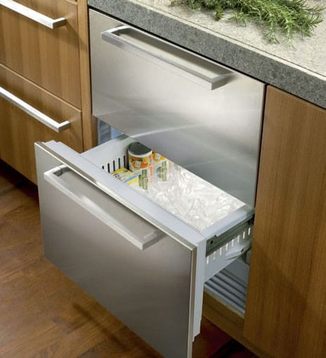 Sub Zero Id24f 24 Inch Integrated Double Freezer Drawer