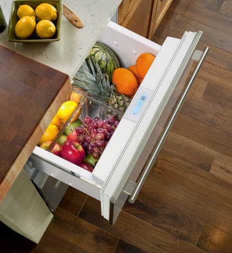 All Refrigerator Drawers Sub Zero Id24r Interior View