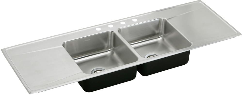 Double Bowl Stainless Steel Kitchen Sink.Elkay Lustertone Collection Ilr6622dd5