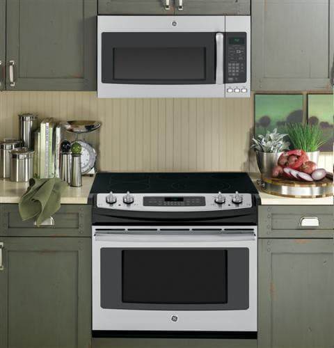 ge jd750sfss 30 inch dropin electric convection range with 5 radiant elements 44 cu ft self clean oven with steam clean option 3600w power boil
