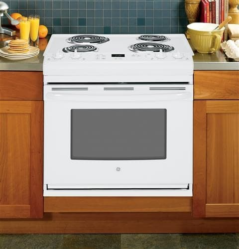 Ge Jds28dfww 30 Inch Drop In Electric Range With 4 Coil
