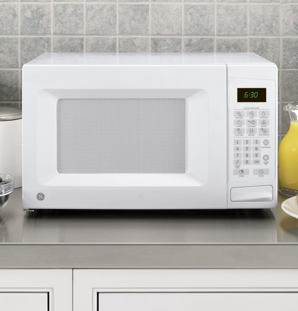 Countertop Microwave No Turntable : GE JES1139DSWW 1.1 cu. ft. Countertop Microwave Oven with 1,100 ...