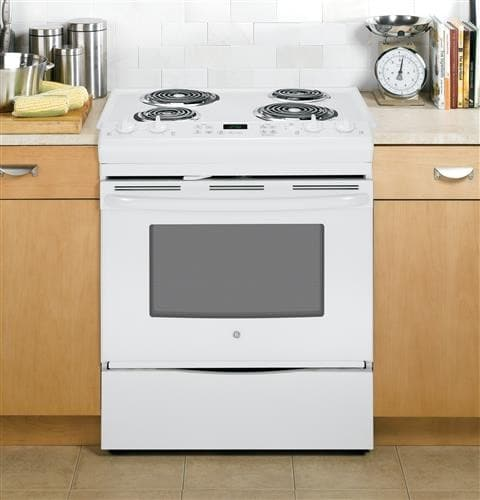 Ge Js250dfww 30 Inch Slide In Electric Range With Dual