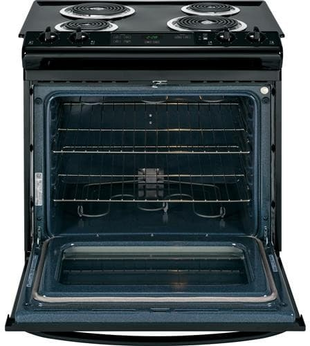 Ge Jss28dfbb 30 Inch Slide In Electric Range With 4 Coil