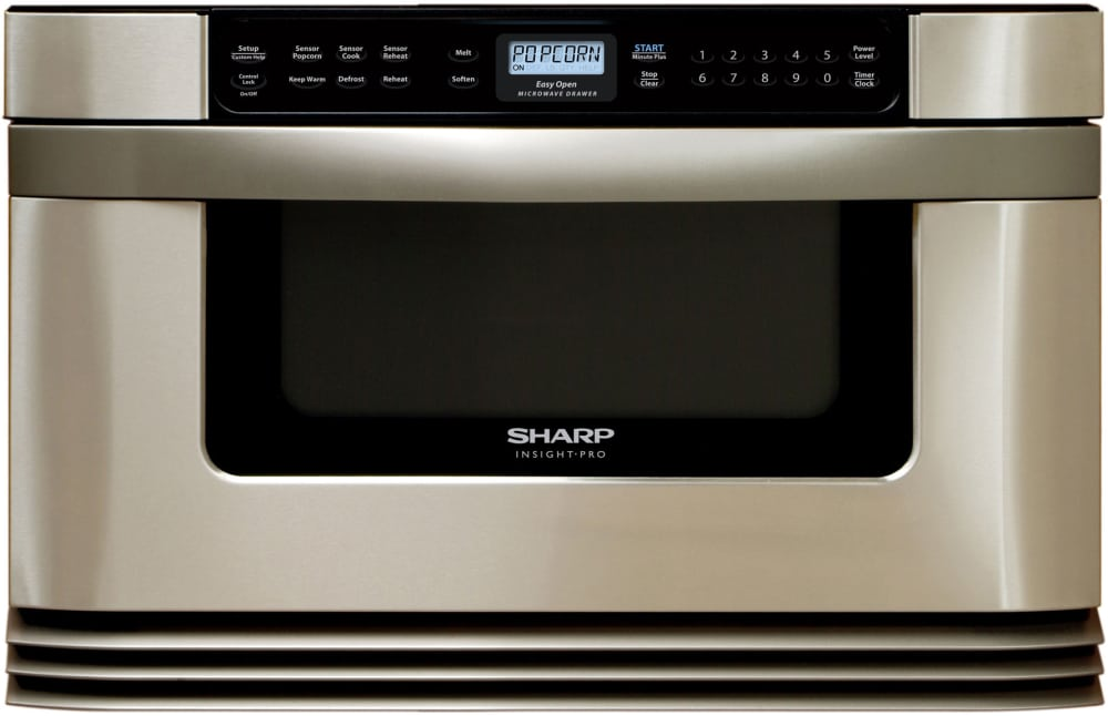 Sharp kb6024ms 24 inch built in microwave drawer with 1 0 for 24 inch built in microwave stainless steel