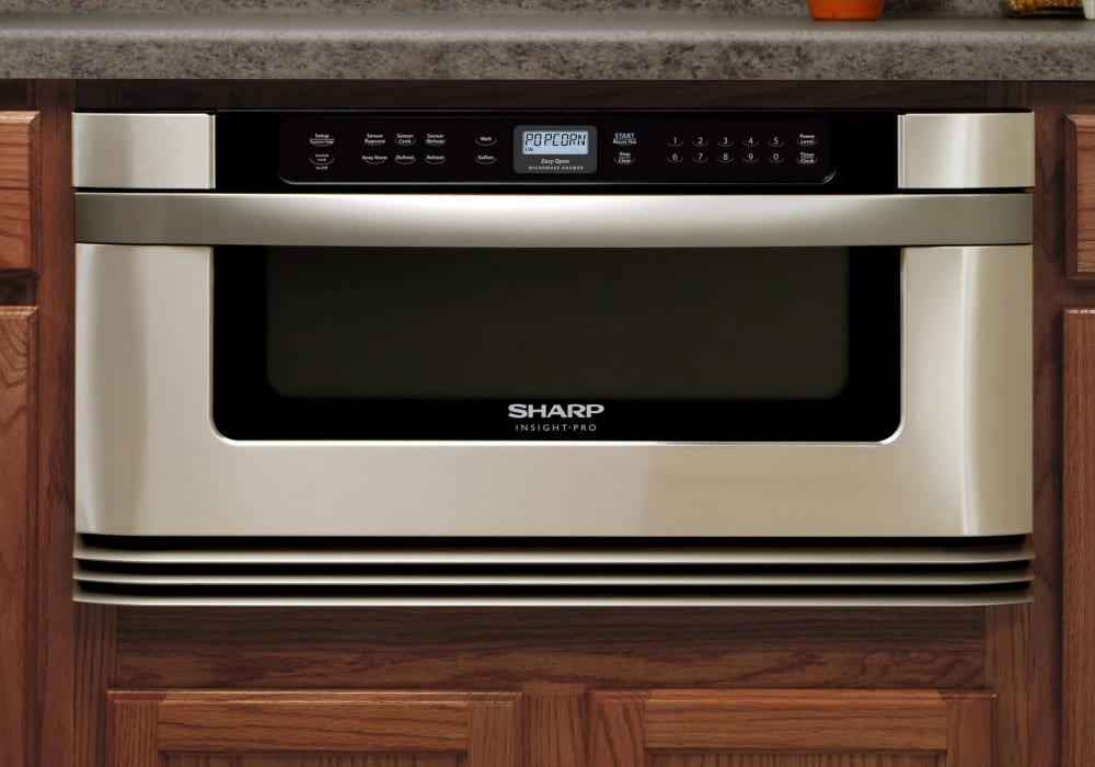 Sharp kb6025ms 30 inch built in microwave drawer with 1 0 for Built in microwave ovens 30 inch