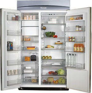 thermador 48 refrigerator. thermador kbuit4875e - opened view 48 refrigerator r