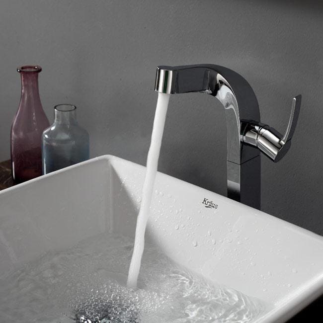 Kraus Kef15100pu10ch Single Lever Vessel Faucet With Solid