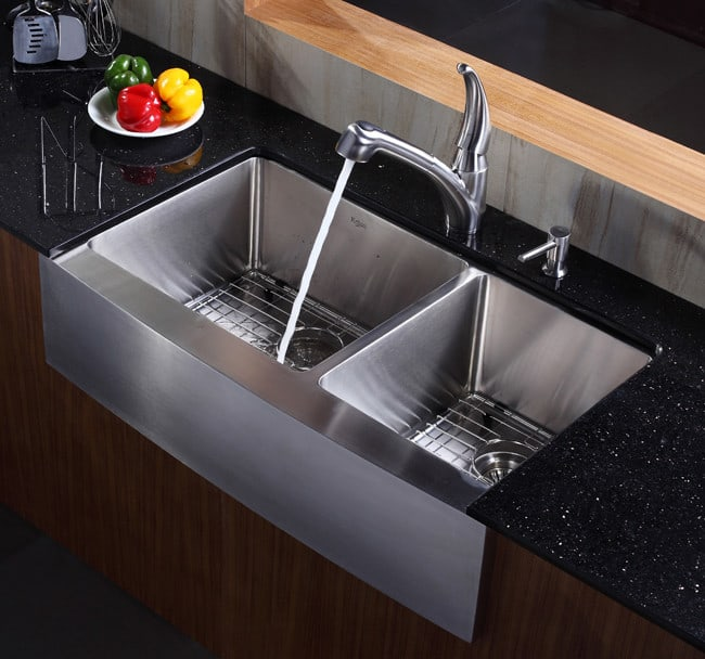 Kraus Khf20336 36 Inch Stainless Steel 60 40 Double Bowl
