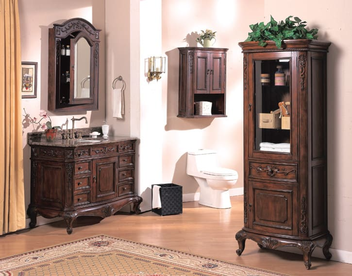Empire industries l2403w 24 inch traditional hand carved for Empire bathrooms