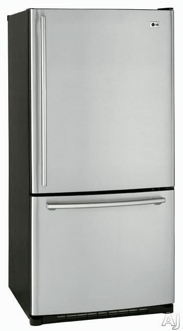 Lg Lbc22518st 22 4 Cu Ft Bottom Freezer Refrigerator
