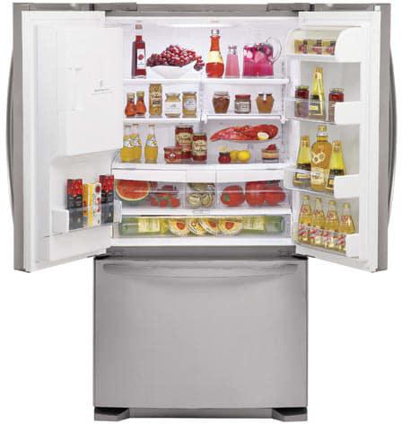Lg Lfx25971st 247 Cu Ft French Door Refrigerator With 4 Split