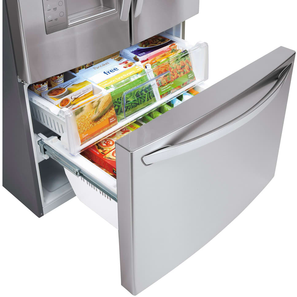 Lg Lfx29927st 29 2 Cu Ft French Door Refrigerator With 4
