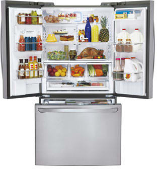Lg Lfx31925st 30 7 Cu Ft French Door Refrigerator With