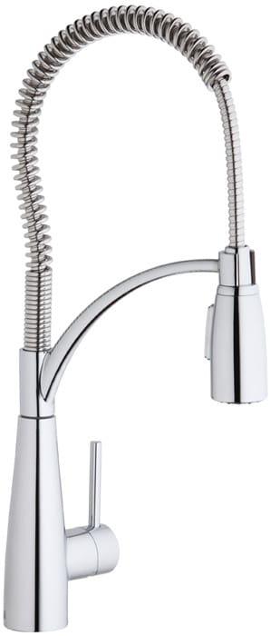 Elkay Lkav4061cr Single Lever Spiral Spring Kitchen Faucet