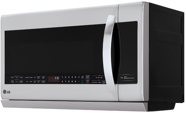 Lg Lmhm2237st 2 2 Cu Ft Over The Range Microwave Oven