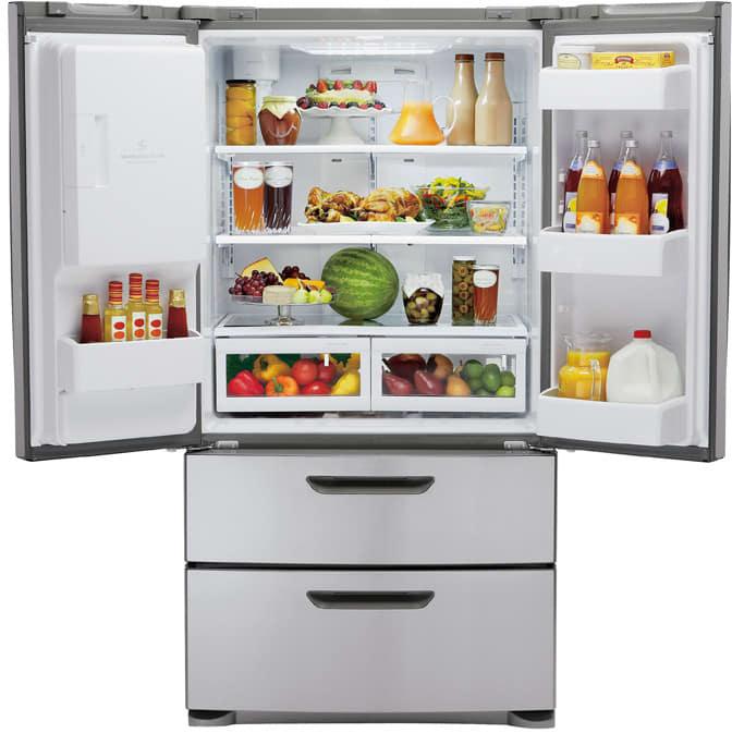Lg Lmx25964st 24 7 Cu Ft 4 Door French Door Refrigerator