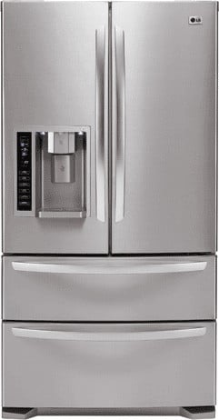 Lg Lmx25981st 24 7 Cu Ft French Door Refrigerator With 4