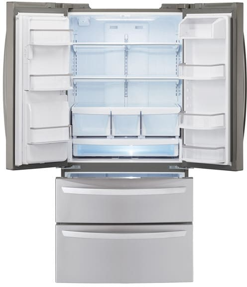 unusual refrigerator lg double door.  LG LMX25988ST Interior View Empty 24 7 cu ft French Door Refrigerator with 4 Split