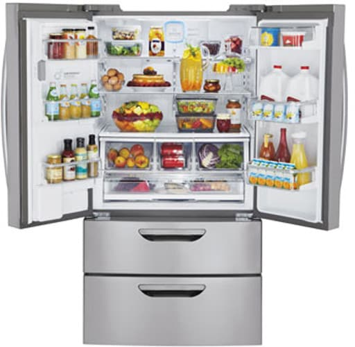 Perfect LG LMX31985ST 31 Cu. Ft. French Door Refrigerator With Double Freezer  Drawers, 4 Compartment Crisper System, Spill Protector Glass Shelves, Glide  Nu0027 Serve ...