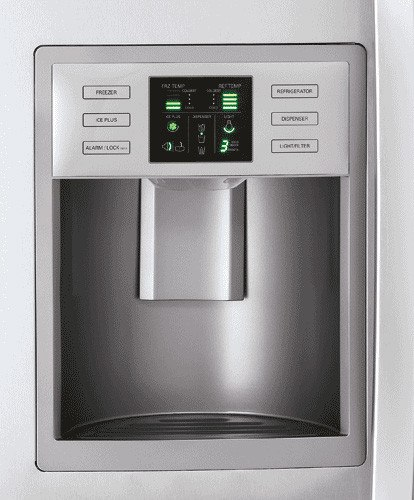lg lsc27910st 26 5 cu ft side by side refrigerator with. Black Bedroom Furniture Sets. Home Design Ideas