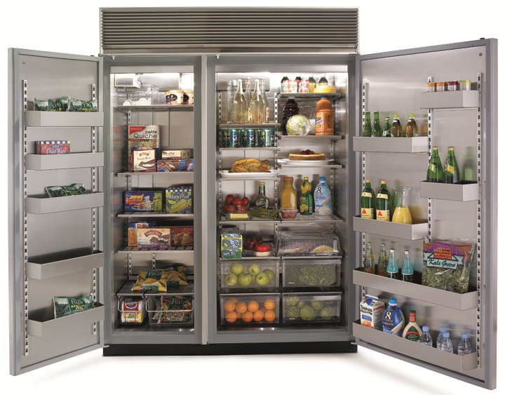 Marvel M60csssp 60 Inch Built In Side By Side Refrigerator