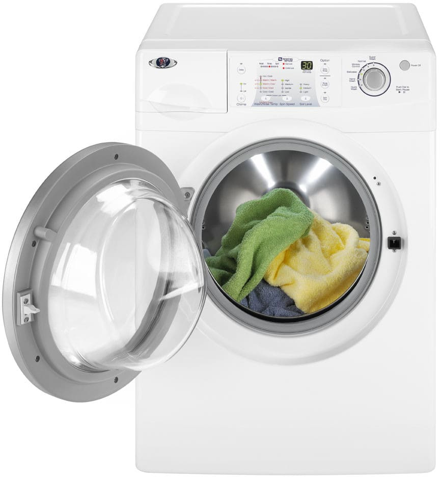 Maytag mah6700aww 27 inch high efficiency front load washer with maytag neptune series mah6700aww view 2 sciox Image collections