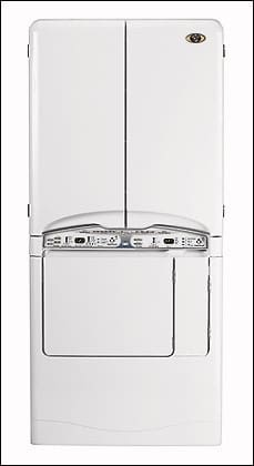 Maytag MCE8000AYW 34 Inch Electric Drying Center with 7.3 Cu. Ft., on