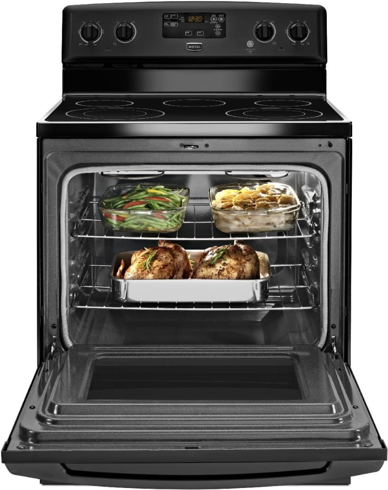 Maytag Mer7685bb 30 Inch Freestanding Electric Range With