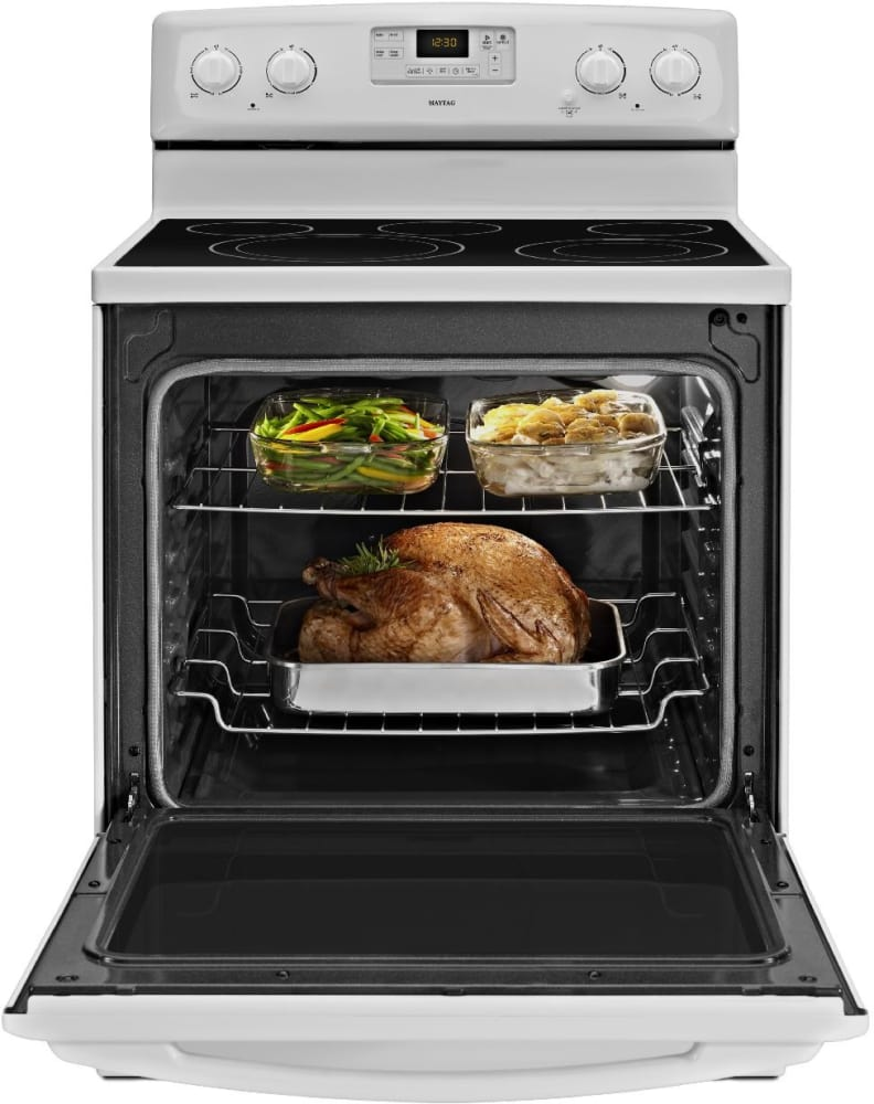 Maytag Mer8680bw 30 Inch Freestanding Smoothtop Electric