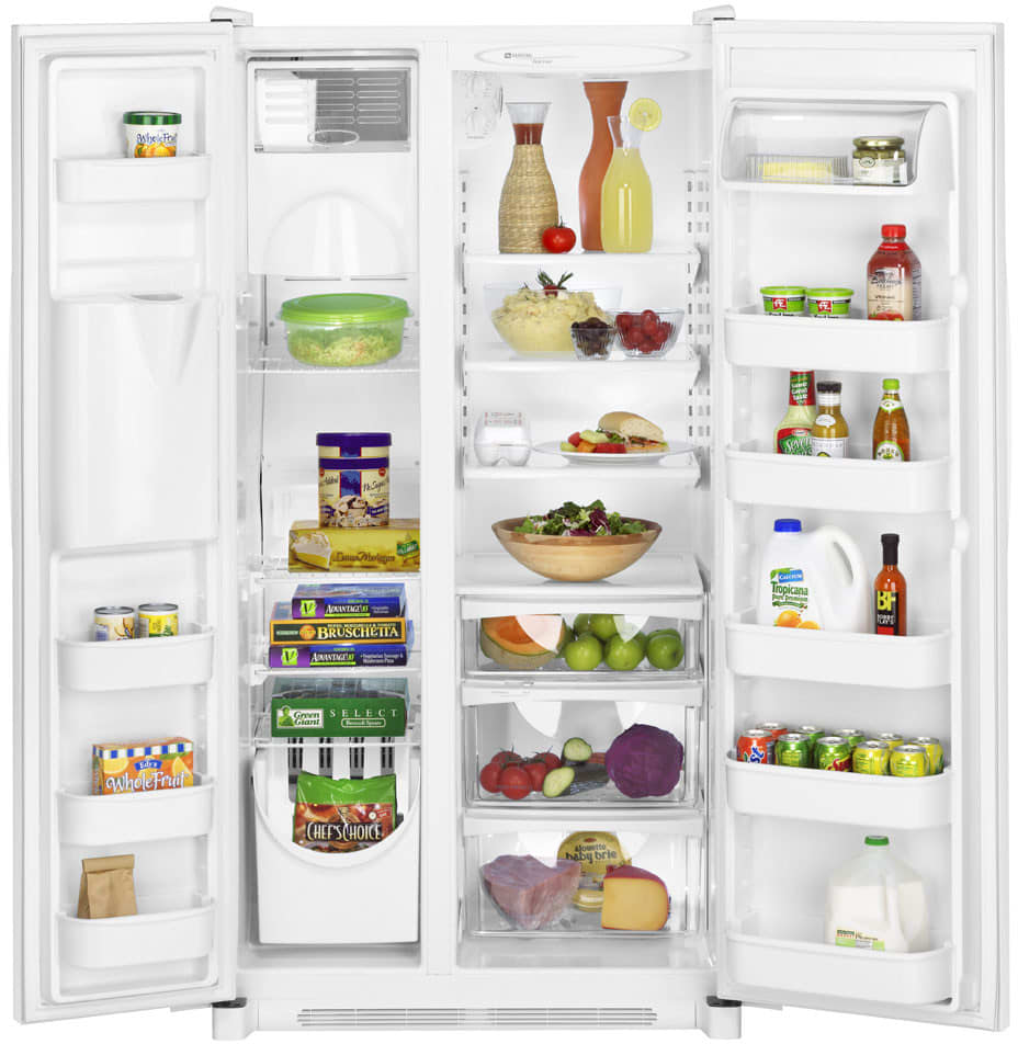 Maytag MSD2651HEW 26 Cu. Ft. Side by Side Refrigerator with Dual ...