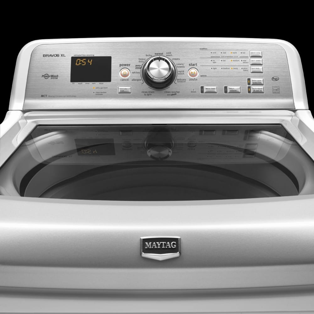 Maytag Bravos Xl Series Mvwb880bw Controls And Gl Lid