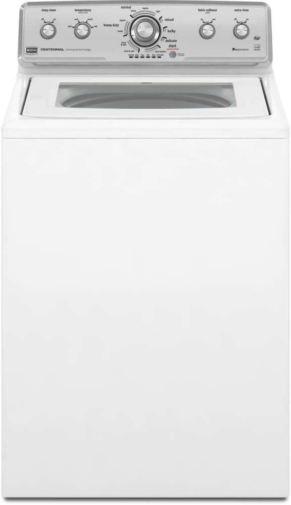 Maytag Mvwc450xw 27 Inch Top Load Washer With 3 6 Cu Ft Capacity 11 Wash Cycles Deep Clean Option 4 Water Temperatures Water Level Sensor And Stainless Steel Drum