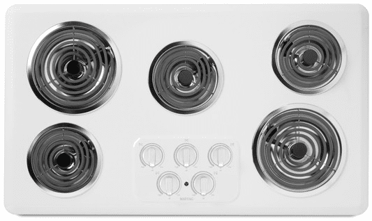 Maytag Mec4536ww 36 Inch Electric Cooktop With 5 Heavy