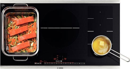 bosch nitp666suc 36 inch induction cooktop with 5 cooking zones speedboost 4 500 dual element. Black Bedroom Furniture Sets. Home Design Ideas