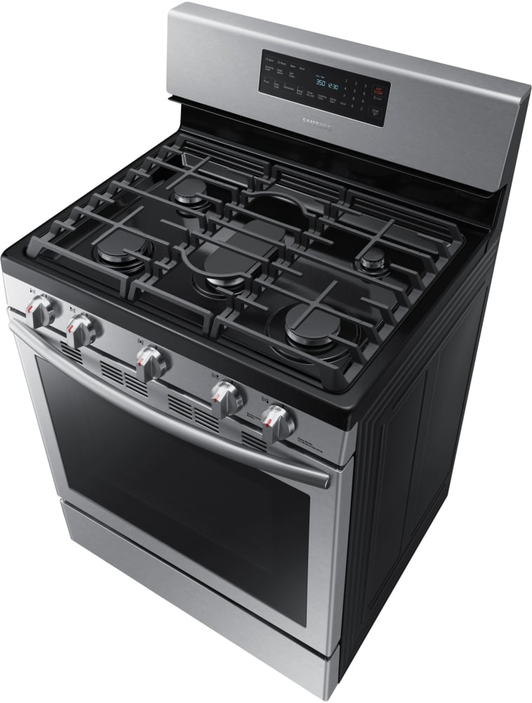 Gas Stove With Griddle ~ Samsung nx h ss inch freestanding gas range with