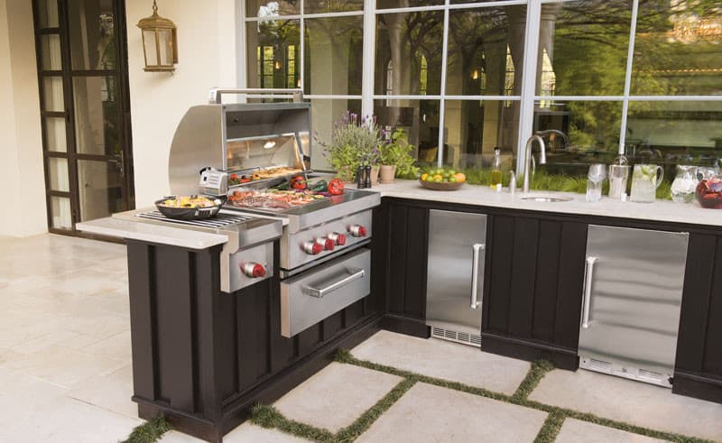 Sub zero uc24rophlh 24 inch built in outdoor all for Outdoor kitchen refrigerators built in